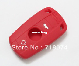 Wholesale Car Parts For Bmw - wholesale For BMW Key keyless car parts Silicone Holder Remote Fob Case Cover bag wallet