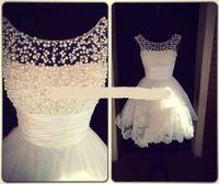 Wholesale Wonderful Short Dresses - 2014 Sexy Evening dresses Short Pearl wonderful Celebrity Dresses 107-13