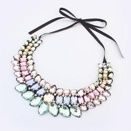Shourouk dei monili di modo online-Nuovi gioielli di moda Collana SHOUROUK Collane di cristallo Shourouk europee e americane di moda per la collana della ragazza della dichiarazione della ragazza delle donne