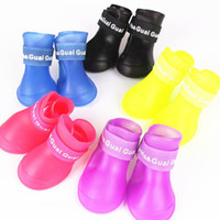Wholesale Colors News - Free Shipping 2013 Lefdy News DOG BOOTS Waterproof Protective Rubber Pet Rain Shoes Booties of Candy Colors