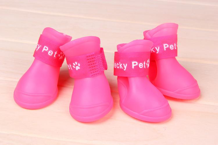 شحن مجاني 2013 lefdy أخبار dog BOOTS ماء واقية المطاط الحيوانات الأليفة أحذية المطر الجوارب من الألوان كاندي