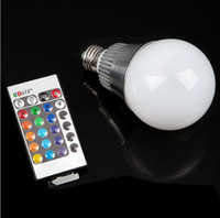 Wholesale Innovative items High Qulity w W E27 GU10 E14 RGB LED Bulb Color Change Lamp spotlight v with Remote control