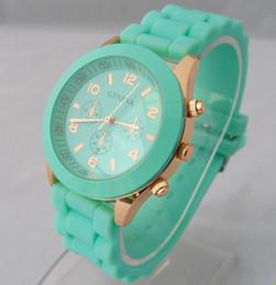 geneva gold watch 2019 - 2017 Hot New Fashion geneva Lady Crystal Silicone Watch Jelly watch for women wedding quartz women dress watches 11 colo