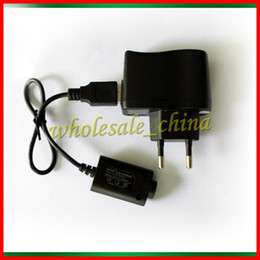 Wholesale Cigarette Adapter Plug - Wall Charger OR USB Charger for E cigars Electronic Cigarette E-cigarette Charger E-cig Ego t Ego Adapter Kits US EU Plug