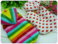 Wholesale Rainbow Dog Clothes - Free shipping Cotton Thermal fabric Rainbow prince Strawberry princess pet Dog clothing #H0029