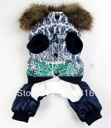 Wholesale Dog Bubbles - New Blue and white bubble padded luxury fur pet dogs winter coat Free shipping dogs clothes