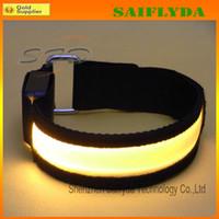 Wholesale Reflective Arm Bands - Wholesale - High Visibility Outdoor Sports Safety LED Armband Luminous Reflective Lattice Flashing Arm band