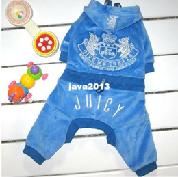 Wholesale Cheap Pet Costumes - dropshipping dog tracksuit,velvet dog jumpsuit,quality pet dog clothes,color matching cheap price
