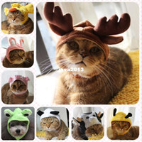 Wholesale Frog Bee - Cute Design Cotton Reindeer Frog Bee Rabbit Cow Pig Duck Panda Costume Hats for Cats or Small Medium Dogs
