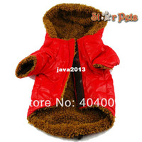 Wholesale Pink Fur Jacket Small - New Arrival Padded Dog Clothes Fur Lined Dog Coat Puffer Hoodie Pet Winter Coat Puppy Jacket