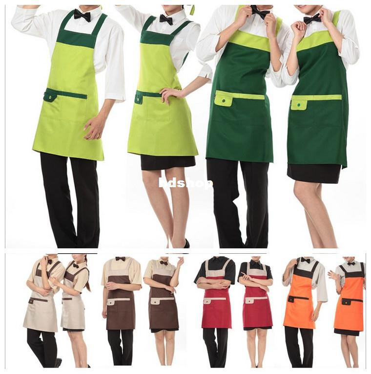 New Items Kitchen Accessories Work Wear Hotel Uniforms Aprons Western  Restaurant Cafe Overalls Installed Operating Staff Apron Waterproof Apron  Work Apron ...