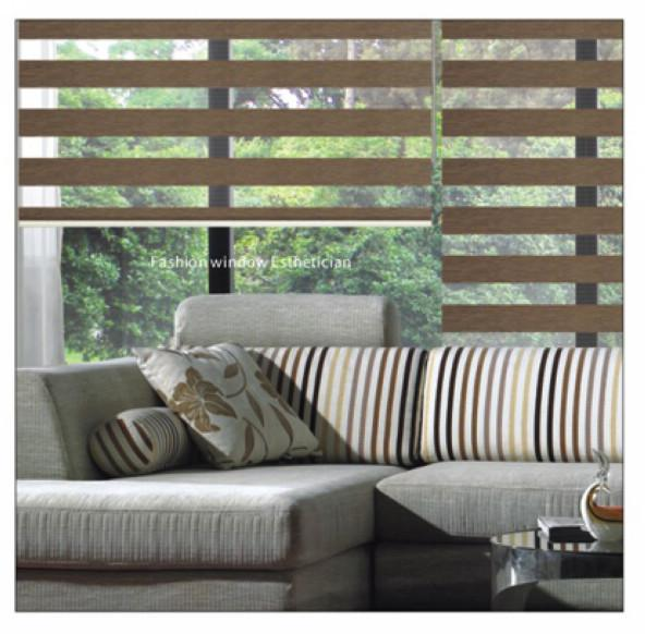 2017 100 Polyester Blackout Brown Luxury Roller Zebra Blinds
