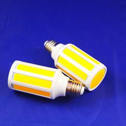 Wholesale E14 15w Cob Corn - COB LED Corn Bulb Lamp Light 15W SMD E27 E14 Home Kitchen High Power 10 Intergrated Chips AC110V 220V Free Shipping MOQ 1 pcs