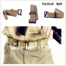 Wholesale Fire Belts - 3 Colors Survival Tactical Belt Waist Strap Fire Rescue Militaria Hunting Rigger Waistband DDE Free Shipping