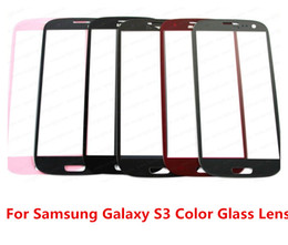 Wholesale Screen Replacement For S3 - Great Quality Good Price Colorful 100% Original New Outer Replacement Screen Glass Lens for Samsung Galaxy S3 SIII i9300