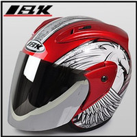 """Wholesale Helmet Ibk - Free Shipping ! """" IBK-515 """" 3 4 Style ABS Street Open Face OFF Road Casco Scooter Casque Motorcycle Red Unicorn Helmet & Lens Adults"""