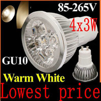 Wholesale Power Led Blue Spot Lights - free shipping Epistar GU5.3 12W 4x3W 960LM MR16 High Power LED Lamp spot lighting 80W CE Rohs warm cool white 220V 110v-240v drop shipping