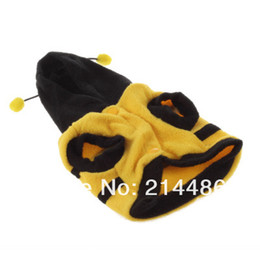 Wholesale Bee Dog Clothes - Bumble bee Dog Halloween Costume Clothes Pet Apparel Bumble Bee Dress Up Hot Selling