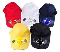 Wholesale Cooling Fan Hat - 5 Colors Chic Summer Men Women Sport Outdoor Hat Cap Solar Sun Power Cool Fan For Golf Baseball DGR Free Shipping