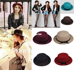 Wholesale Magic Wool - 2013 Autumn Winter Women and Men Equestrian Cap Magic Devil Hat Stage Top Cap Fedoras Trilby Cashmere Wool Hat