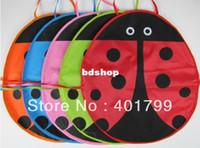Wholesale Ladybug Aprons - Free shipping 10PCS LOT 5 colors Cute Ladybug Kids waterproof PVC Apron Lovely Child Pinafore