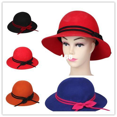 Compre Liberan El Sombrero Elegante Dox De Los Sombreros De Ala Del  Casquillo Del Compartimiento Del Partido De La Venda Del Doble Del Bowknot  De Las ... 546ec2d57de