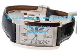 Wholesale Gents Wristwatches - Stunning Men's Quartz Americaine Watch Auto Date Watches Leather Classic Full Steel Gents Wristwatches