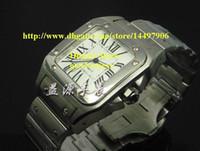 Wholesale Vintage Brass Buckle - Brand New Mens White Dial Automatic XL Dumont Watch Men Stainless Steel Bracelet Vintage Wristwatch