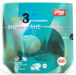 Wholesale Dhs Rubbers - Blue Sponge Version DHS NEO Provincial Hurricane3 Hurricane 3 Black Pips-In Ping Pong Table Tennis Rubber With Sponge