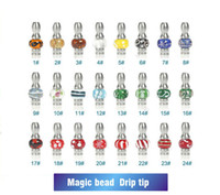 Wholesale Ego Cartomizers - NEWEST 510 Vapor stainless steel with Glass bead Drip Tips EGO glass Mouthpieces Fit 510 Vivi nova Dct cartomizers Clearomizers E-Cigarette