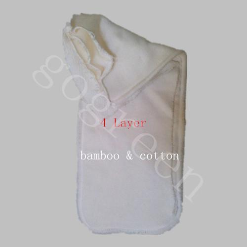 top popular Free Sipping Bamboo&cotton 200pcs 4 Layers All Bamboo Organic Cotton Pads High Quality Organic insertNappy Inserts 2020