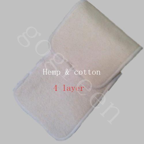 best selling Free Shipping FEDEX Naughty Baby Hemp Organic cotton 100pcs 4 Layers Reusable Baby Cloth Diaper Pads Nappy Inserts