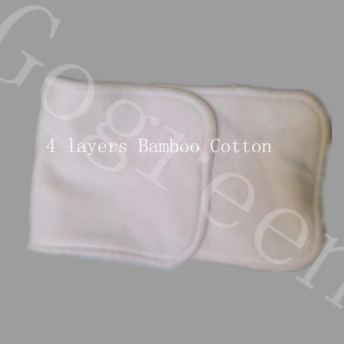 Free Sipping Bamboo&cotton 4 Layers All Bamboo Organic Cotton Pads High Quality Organic insertNappy Inserts