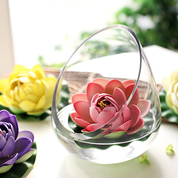 Artificial EVA Lotus Flower Fish Tank Garden Water Pool Decoration Craft Fake Flowers For Wedding Party Home Supplies