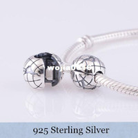 Wholesale N 925 - Authentic 925 Sterling Silver Charms Beads Clip Fits European Style Bracelet   Necklace Free shipping KT076-N