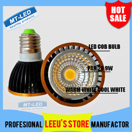 Wholesale High Power Led Par Light - DHL Free shipping High power Dimmable Led Lamp par20 COB 9W 12W E27 GU10 E14 Led Light 110-240V Spotlight led bulb par 20 downlight lighting