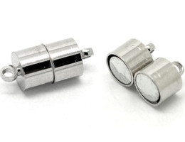$enCountryForm.capitalKeyWord Canada - Free Shipping!Wholesale 100pcs silver plated Barrel Strong Magnetic Clasp 17x7mm