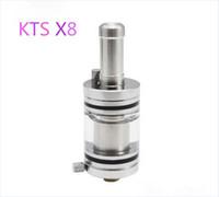 лучшая танковая сигарета e оптовых-Cest лучший KTS X8 Odysseus Rebuildable Clearomizer атомайзер Картомайзер большой бак прозрачный для телескопа KTS K100 K101 K200 X6 электронная сигарета