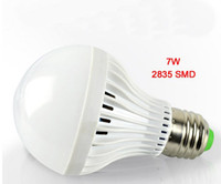 smd pil toptan satış-7 W E27 LED Acil Ampuller Işık Lambası SMD 2835 Işıkları Kabarcık 90-260 V 28 leds Dahili Pil Lambası Sıcak beyaz Soğuk beyaz 20 adet / grup-Express