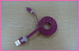Wholesale Quality V8 Flat Micro Usb - high quality free shipping micro flat cable for android system 1m 3ft V8 sync data charger for blackberry samsung s3 s4 s5 note nokia 100pcs