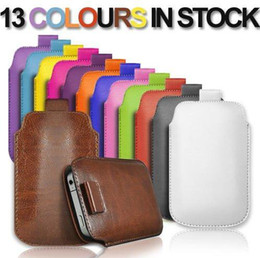 Wholesale Galaxy S4 Pull Tab Leather - PULL UP Cord TAB PU LEATHER POUCH Pocket COVER CASE for Iphone 4S 5S 5C Samsung galaxy S3 i9300 S4 i9500 s5 i9600 Pull up tab case mix color