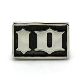 """Wholesale Wholesale China Factory Rings - Cool """"IO"""" Ring I Owe you Biker Style 316L Stainless Steel New Design Ring Factory Price"""
