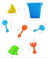 Wholesale Sand Buckets Beach Toys - Children beach toys 7pcs set sand toys bucket+Sand shovel educational toys multicolor outdoor