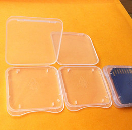 Wholesale Plastic Memory Card Case - 100 Pcs 4GB 8GB 16GB SD RS MMC Memory Card Protection Box Cases for sd CARD Adapters