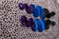 tremper colorant cheveux trame achat en gros de-Oxette dip dye Blue purple Ombre 100% Cheveux Humains 5A Les extensions de cheveux vierges péruviennes tissent la trame vague de corps de 12-30 pouces 3 ou 4 faisceaux