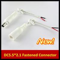 ingrosso cavo connettore maschio per cavo di alimentazione dc-100 Paia 5.5X2.1mm Maschio Femmina DC Power Supply Plug Jack Connettore Cavo 30CM