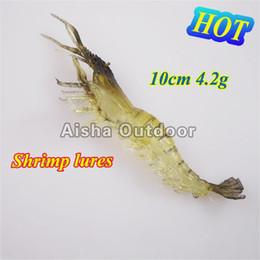 Wholesale Shrimps For Fishing Bait - Wholesale 100pcs lot [10cm, 4.2g] Soft Fishing Lures Artifical Shrimp Bait For Fishing