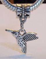 Wholesale hummingbird charms - Hot ! Antique Silver Hummingbird Charm Bead 25 mm x 17 mm Jewelry DIY (37)