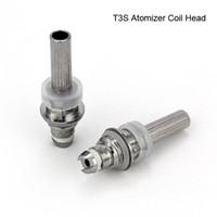 e cig price achat en gros de-Prix usine T3S Atomizer Core Changeable T3S Clearomizer tête de la bobine Remplaçable T3S E Cig Réservoirs Clearomizer Caromizer Cigarette Électronique