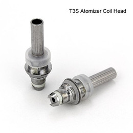 Wholesale Electronic Cig Tanks - Factory Price T3S Atomizer Core Changeable T3S Clearomizer coil head Replaceable T3S E Cig Tanks Clearomizer Caromizer Electronic Cigarette